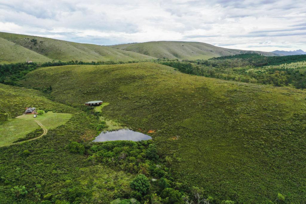 Arial view of Mbabala Lapa & Mpunzi Log Cabin